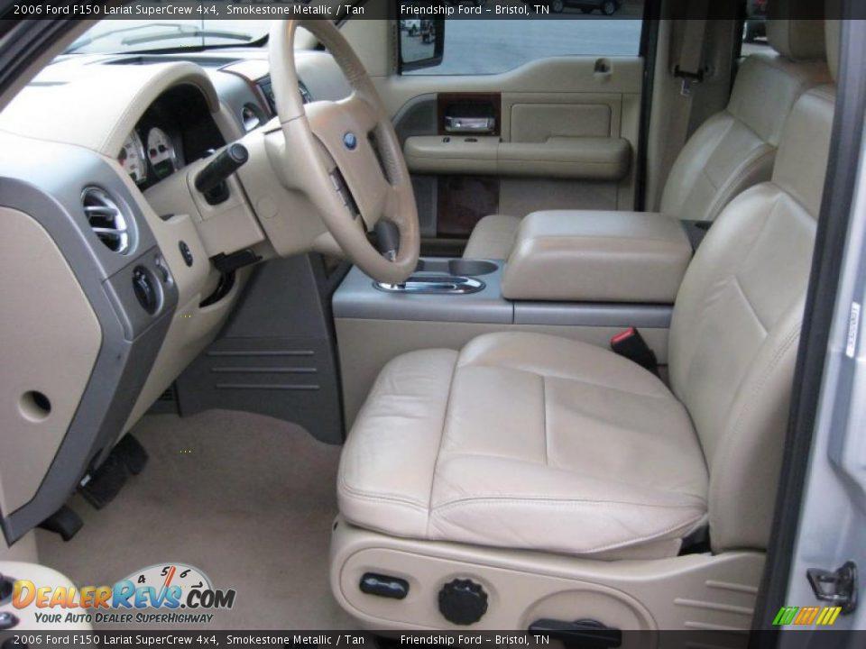 Tan Interior - 2006 Ford F150 Lariat SuperCrew 4x4 Photo #14 ...