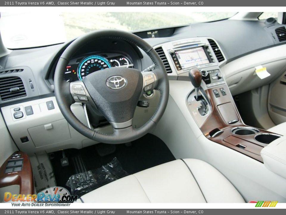 Light Gray Interior 2011 Toyota Venza V6 Awd Photo 13