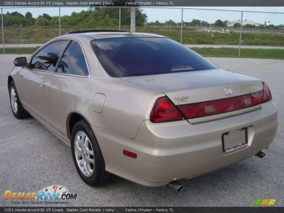 2001 honda accord ex v6 coupe naples gold metallic ivory photo 4. Black Bedroom Furniture Sets. Home Design Ideas