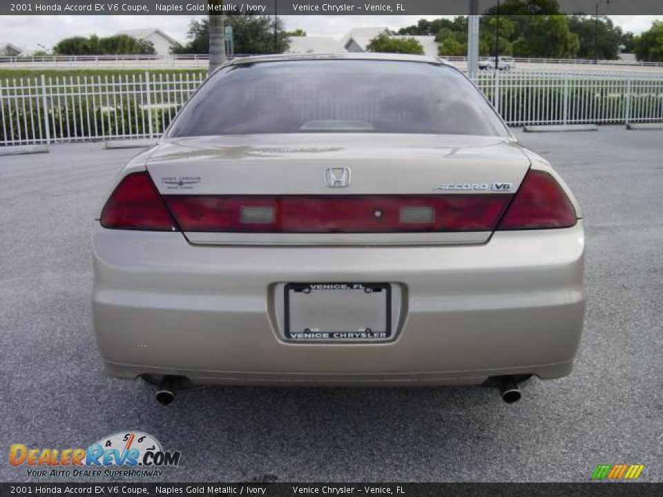 2001 Honda Accord EX V6 Coupe Naples Gold Metallic / Ivory Photo #5