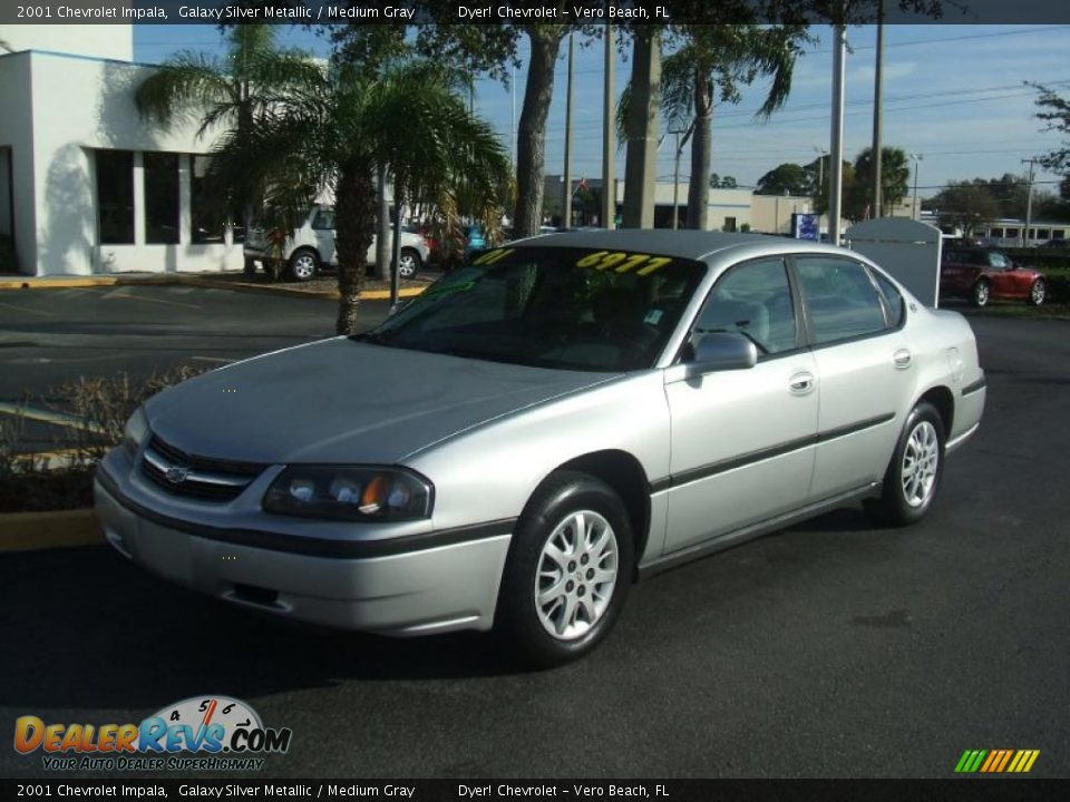 2001 chevrolet impala galaxy silver metallic medium gray photo 1. Black Bedroom Furniture Sets. Home Design Ideas