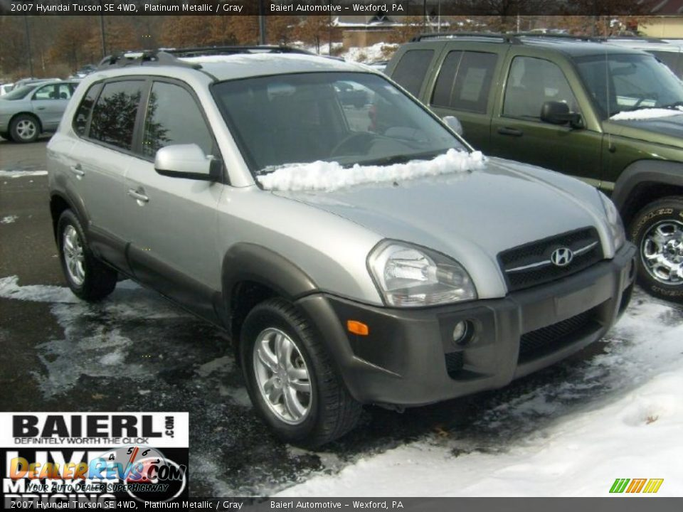 2007 hyundai tucson se 4wd platinum metallic gray photo. Black Bedroom Furniture Sets. Home Design Ideas