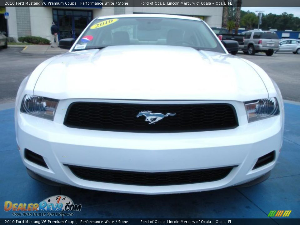 2010 ford mustang v6 premium coupe performance white. Black Bedroom Furniture Sets. Home Design Ideas