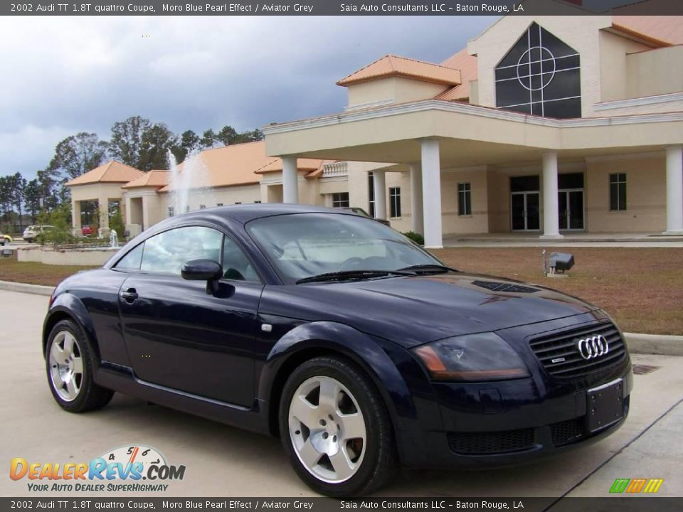 2002 audi tt 1 8t quattro coupe moro blue pearl effect aviator grey photo 1. Black Bedroom Furniture Sets. Home Design Ideas