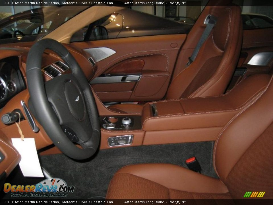 Chestnut Tan Interior 2011 Aston Martin Rapide Sedan