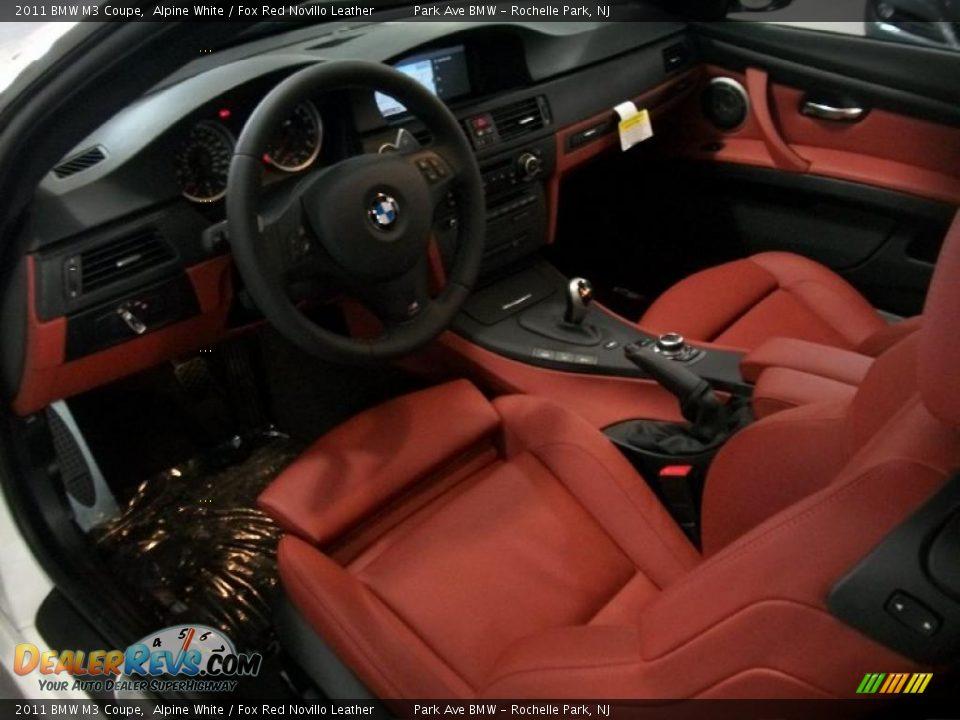Fox Red Novillo Leather Interior - 2011 BMW M3 Coupe Photo ...  Fox Red Novillo...