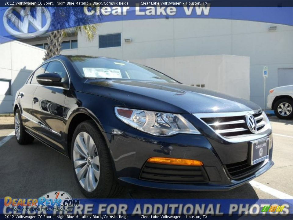 2012 volkswagen cc sport night blue metallic black cornsilk beige photo 1. Black Bedroom Furniture Sets. Home Design Ideas