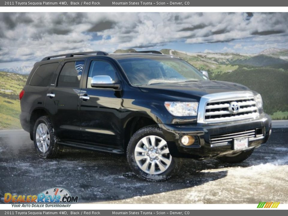 2011 toyota sequoia platinum 4wd black red rock photo 1. Black Bedroom Furniture Sets. Home Design Ideas