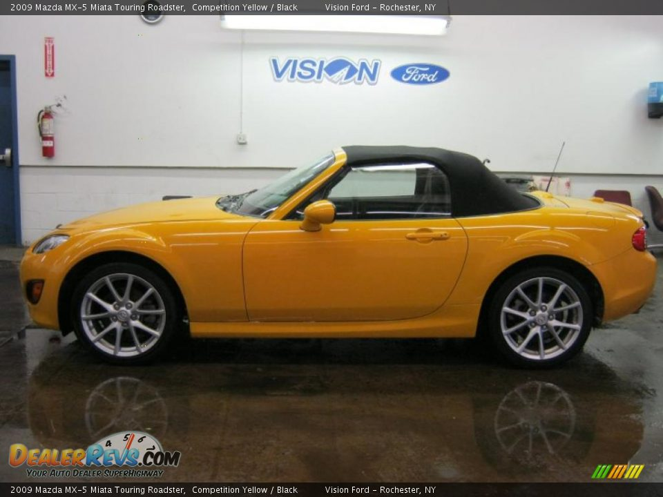 competition yellow 2009 mazda mx 5 miata touring roadster photo 11. Black Bedroom Furniture Sets. Home Design Ideas