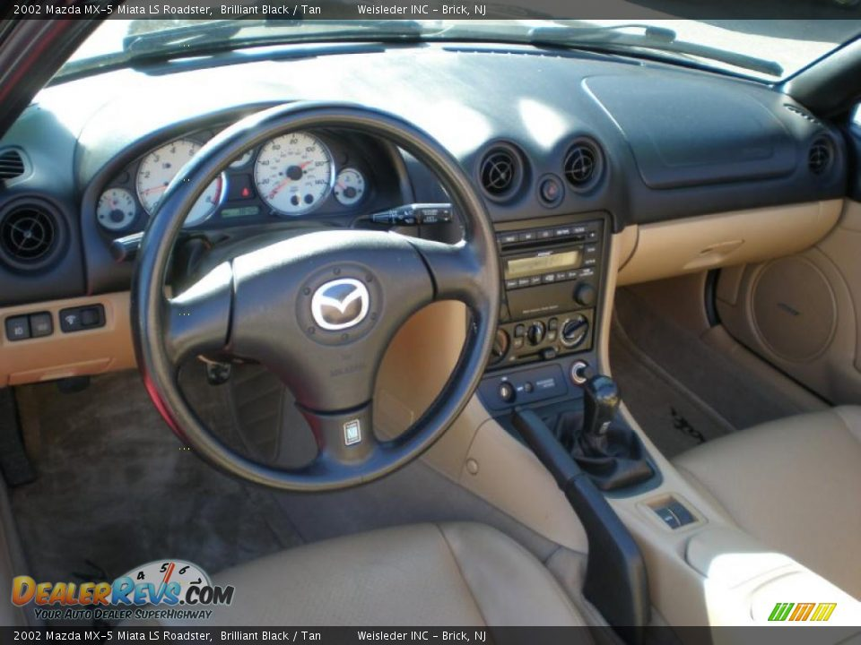 Tan Interior 2002 Mazda Mx 5 Miata Ls Roadster Photo 12
