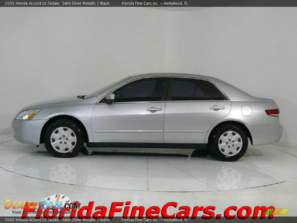 2003 Honda Accord Lx Sedan Satin Silver Metallic Black