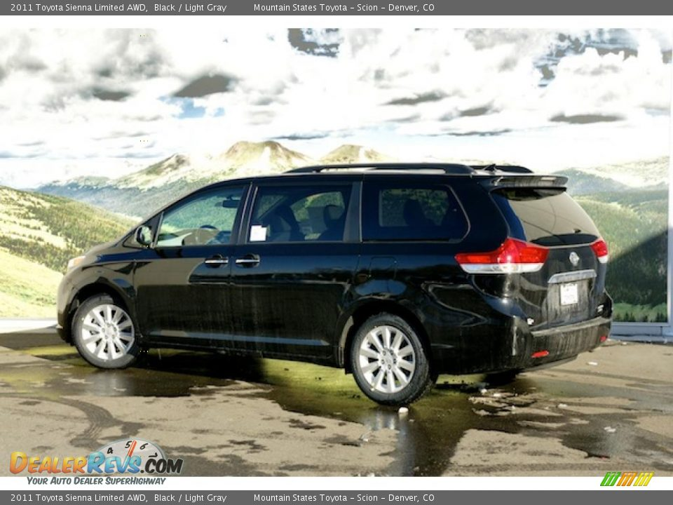2011 Toyota Sienna Limited AWD Black / Light Gray Photo #3 ...