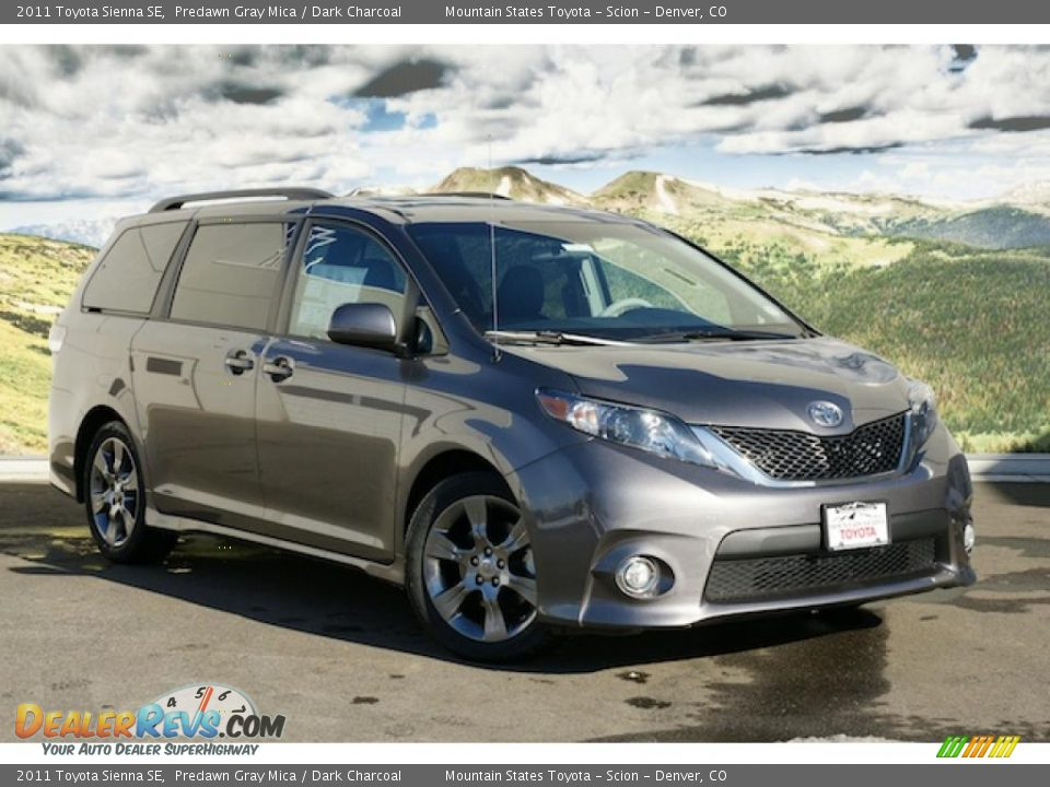 2011 toyota sienna se predawn gray mica dark charcoal. Black Bedroom Furniture Sets. Home Design Ideas