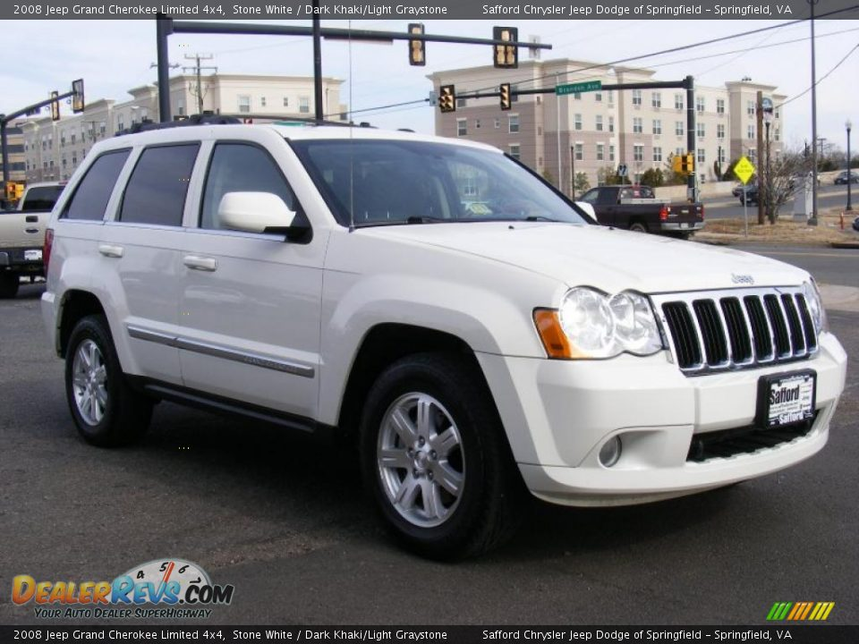 2008 Jeep Grand Cherokee Limited 4x4 Stone White Dark