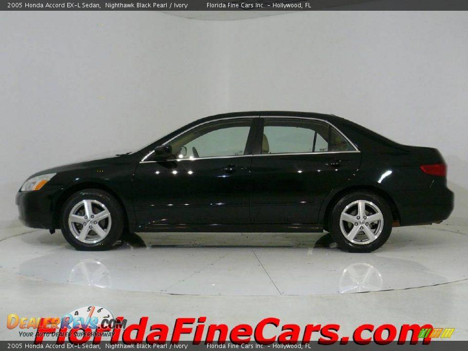 2005 Honda Accord Ex L Sedan Nighthawk Black Pearl Ivory
