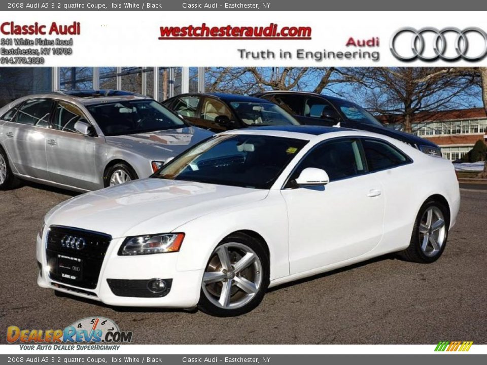 2008 audi a5 3 2 quattro coupe ibis white black photo 1. Black Bedroom Furniture Sets. Home Design Ideas