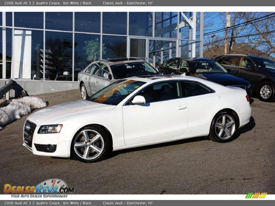 2008 audi a5 3 2 quattro coupe ibis white black photo 3. Black Bedroom Furniture Sets. Home Design Ideas