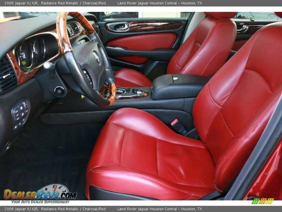charcoal red interior 2006 jaguar xj xjr photo 3