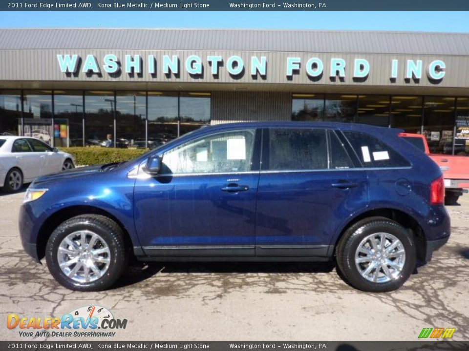 Ford Edge Limited Awd Kona Blue Metallic Medium Light Stone Photo