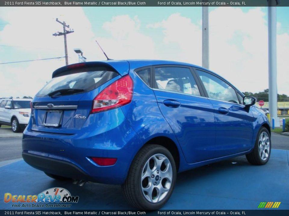 2011 Ford Fiesta SES Hatchback Blue Flame Metallic / Charcoal Black ...