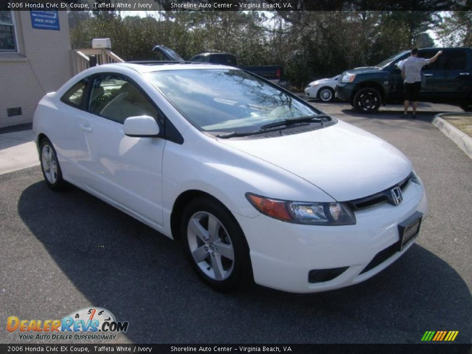 2006 honda civic ex coupe taffeta white ivory photo 7. Black Bedroom Furniture Sets. Home Design Ideas