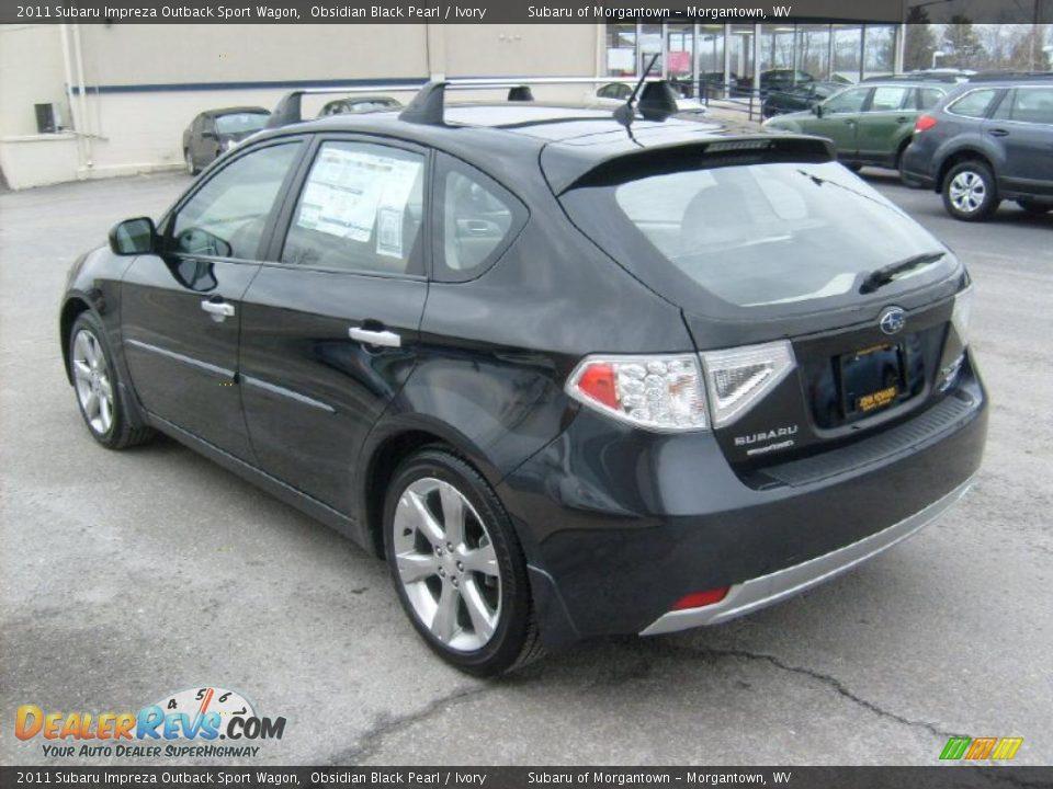 2011 Subaru Impreza Outback Sport Wagon Obsidian Black Pearl Ivory
