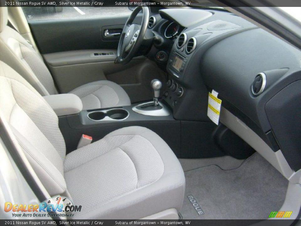 Gray Interior 2011 Nissan Rogue Sv Awd Photo 18 Dealerrevs
