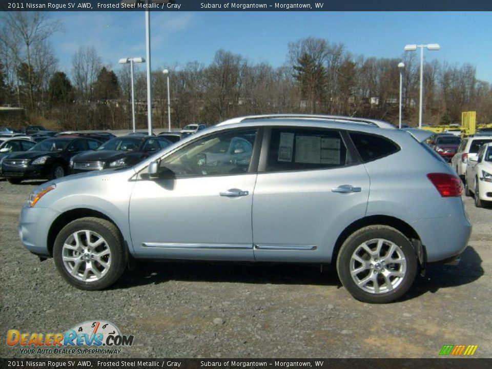 Frosted Steel Metallic 2011 Nissan Rogue Sv Awd Photo 2