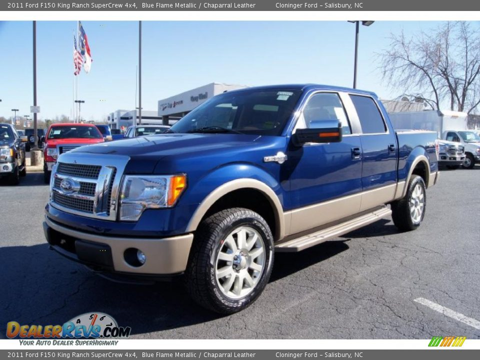 2011 ford f150 king ranch supercrew 4x4 blue flame metallic chaparral leather photo 6. Black Bedroom Furniture Sets. Home Design Ideas