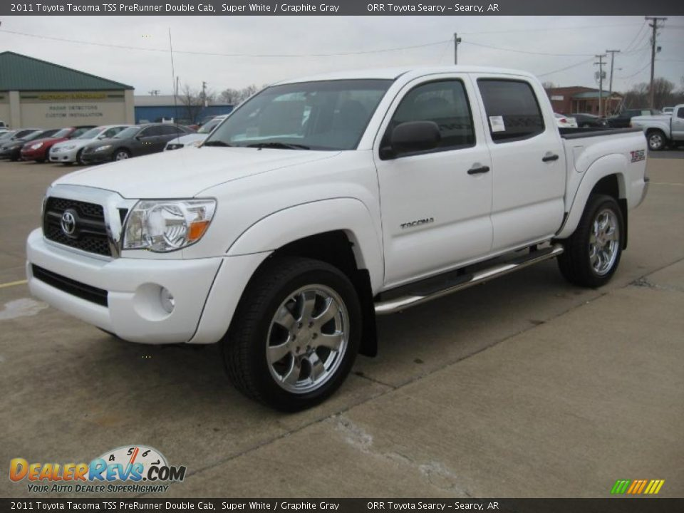 2011 toyota tacoma tss prerunner double cab super white. Black Bedroom Furniture Sets. Home Design Ideas