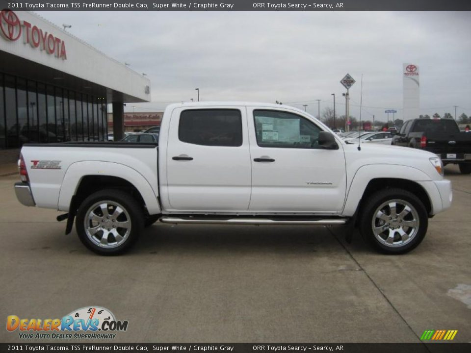 super white 2011 toyota tacoma tss prerunner double cab. Black Bedroom Furniture Sets. Home Design Ideas