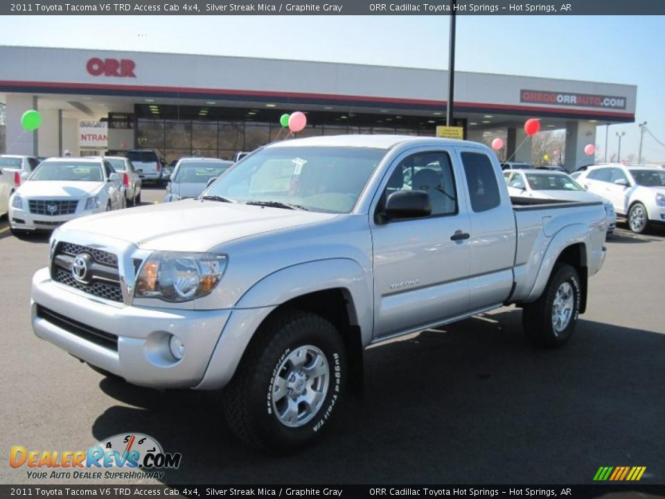 2011 toyota tacoma v6 trd access cab 4x4 silver streak mica graphite gray photo 1. Black Bedroom Furniture Sets. Home Design Ideas
