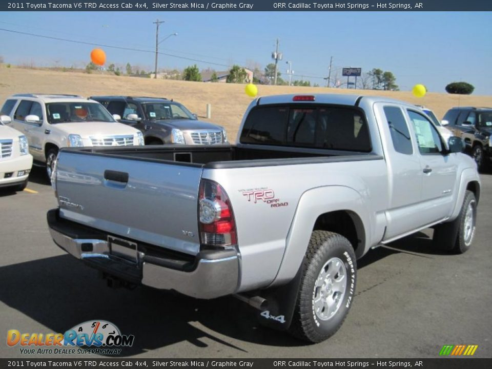 2011 toyota tacoma v6 trd access cab 4x4 silver streak mica graphite gray photo 5. Black Bedroom Furniture Sets. Home Design Ideas