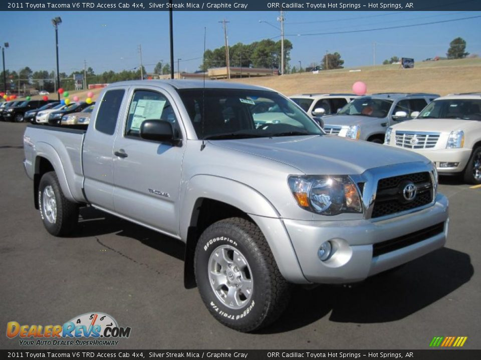 2011 toyota tacoma v6 trd access cab 4x4 silver streak mica graphite gray photo 7. Black Bedroom Furniture Sets. Home Design Ideas