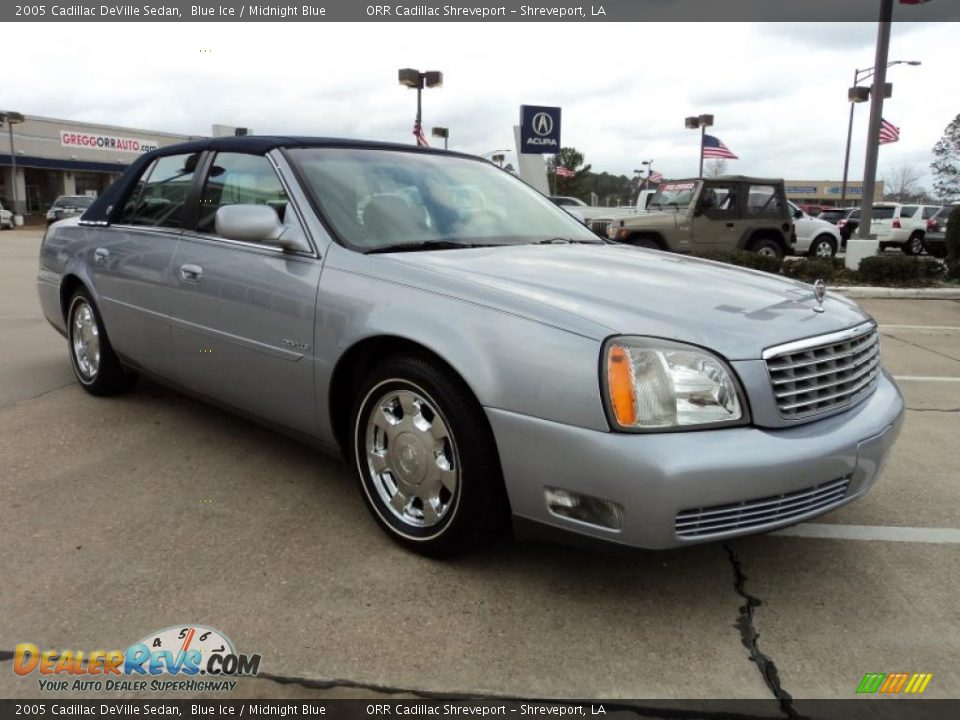 2005 cadillac deville sedan blue ice midnight blue photo. Cars Review. Best American Auto & Cars Review