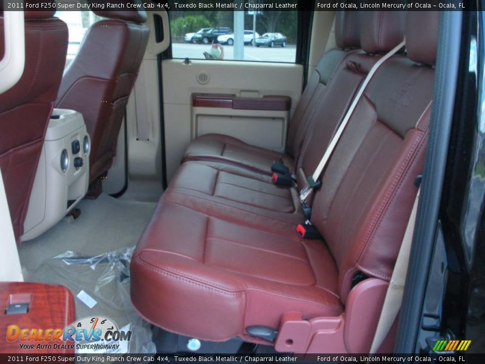 Chaparral Leather Interior 2011 Ford F250 Super Duty King Ranch Crew Cab 4x4 Photo 7