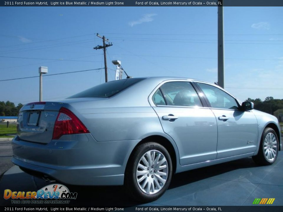 Light Ice Blue Metallic 2011 Ford Fusion Hybrid Photo #3   DealerRevs.com