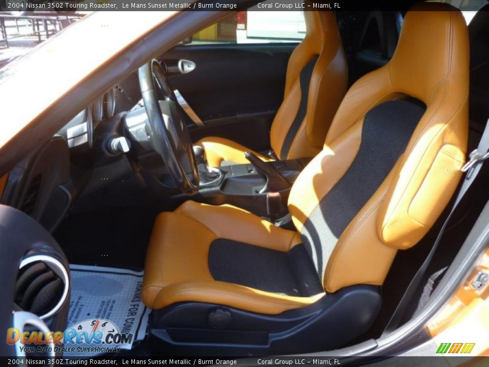 Burnt Orange Interior 2004 Nissan 350z Touring Roadster Photo 8