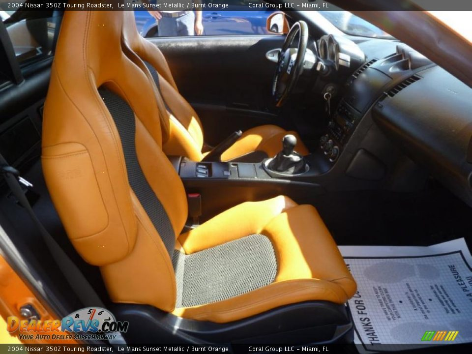 Burnt Orange Interior 2004 Nissan 350z Touring Roadster Photo 9