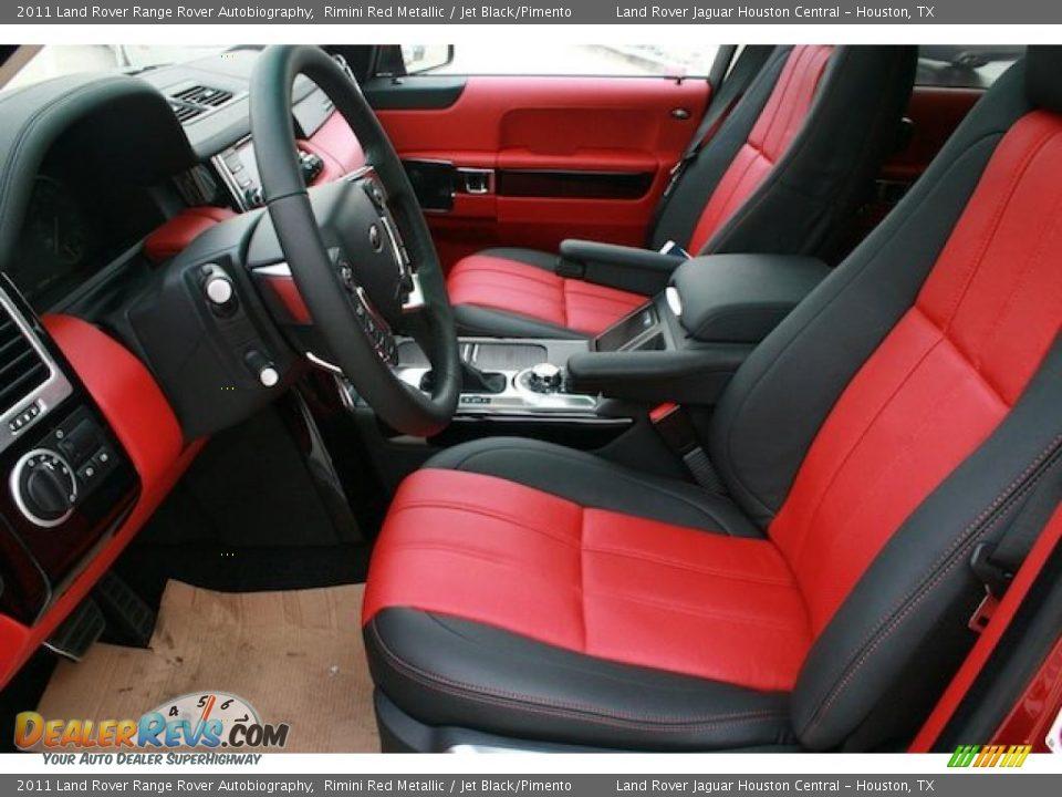 Jet Black Pimento Interior 2011 Land Rover Range Rover Autobiography Photo 3