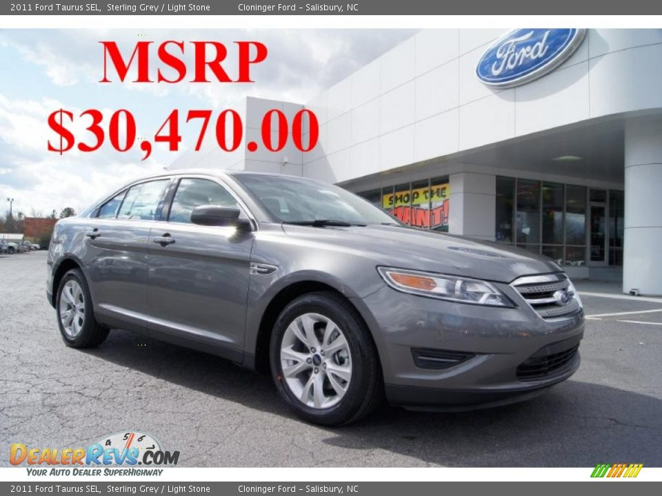 2011 Ford Taurus Sel Sterling Grey Light Stone Photo 1
