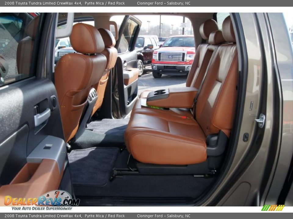 Red Rock Interior 2008 Toyota Tundra Limited Crewmax 4x4 Photo 10
