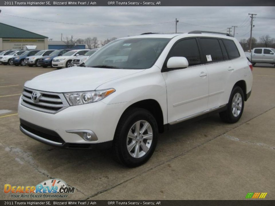 2011 Toyota Highlander Se Blizzard White Pearl Ash Photo