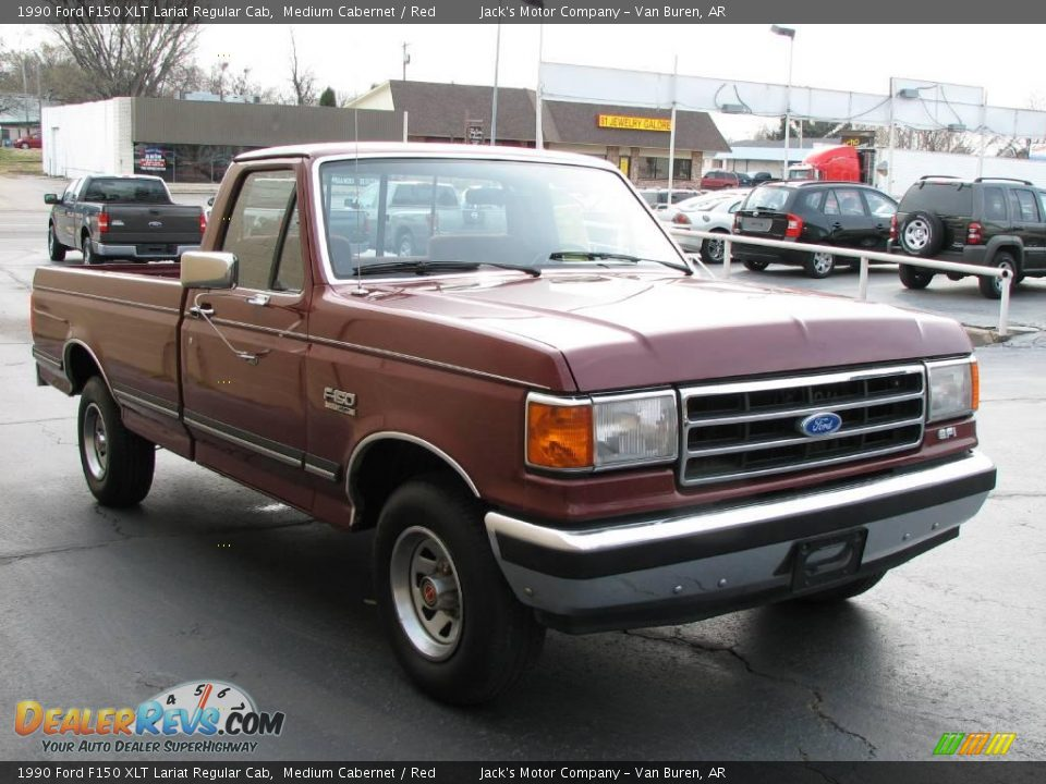 1990 ford f150 xlt lariat regular cab medium cabernet red photo 4. Black Bedroom Furniture Sets. Home Design Ideas