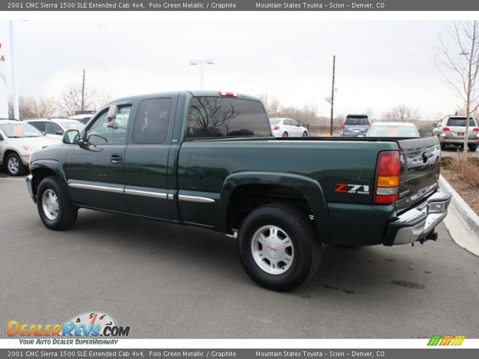 2001 gmc sierra 1500 sle extended cab 4x4 polo green. Black Bedroom Furniture Sets. Home Design Ideas