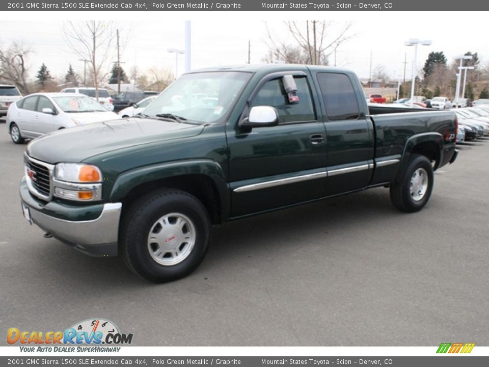 Gmc 1500 >> Front 3/4 View of 2001 GMC Sierra 1500 SLE Extended Cab ...