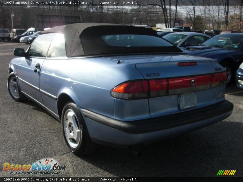 1997 saab 900 s convertible sky blue metallic charcoal. Black Bedroom Furniture Sets. Home Design Ideas