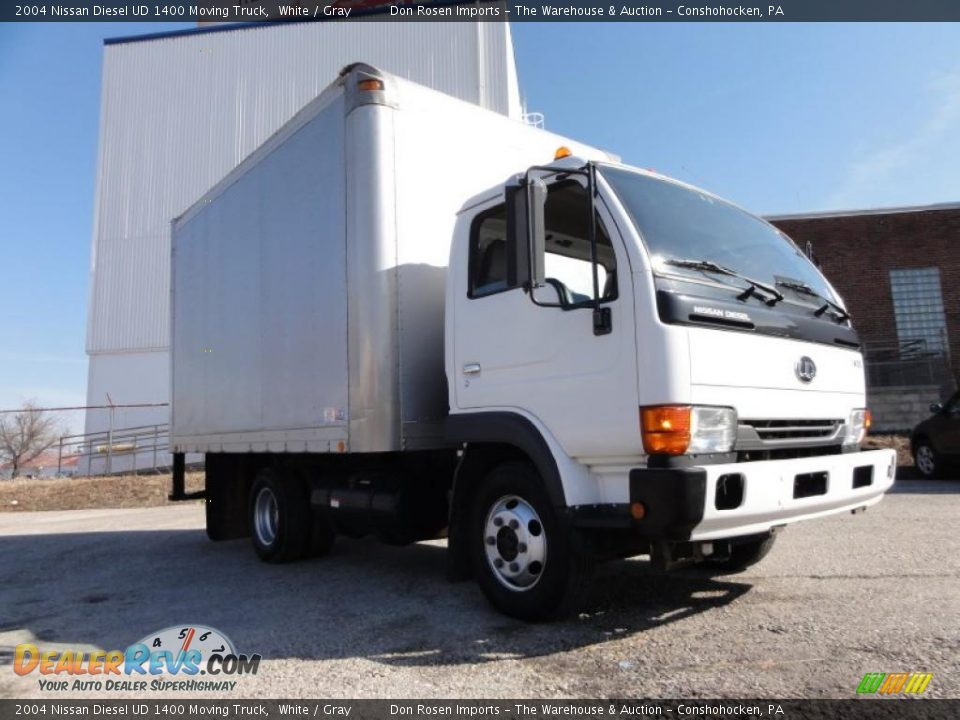 2004 Nissan Diesel Ud 1400 Moving Truck White Gray Photo