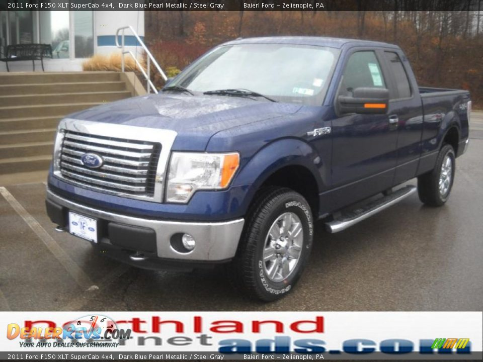 2011 ford f150 xlt supercab 4x4 dark blue pearl metallic steel gray photo 2. Black Bedroom Furniture Sets. Home Design Ideas