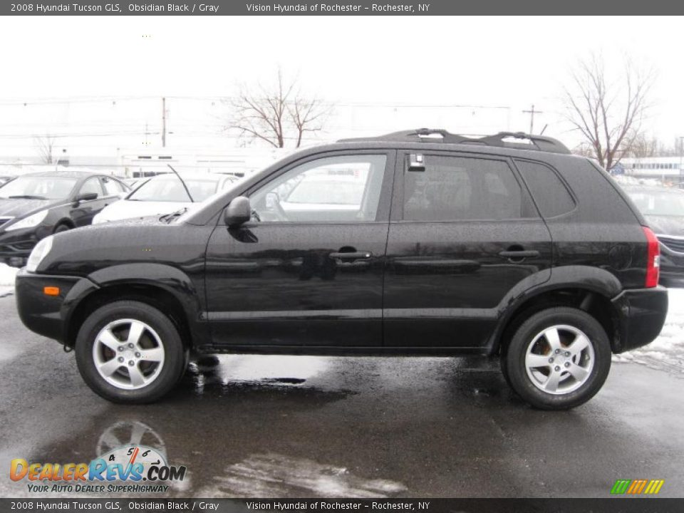 Obsidian Black 2008 Hyundai Tucson Gls Photo 11